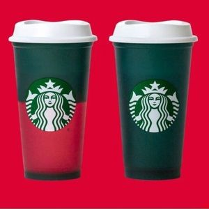 Starbucks Colour-Changing Reusable Cup with lid